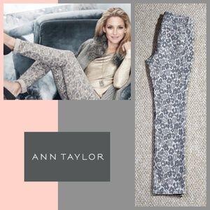 Ann Taylor animal print modern fit jeans sz 6P